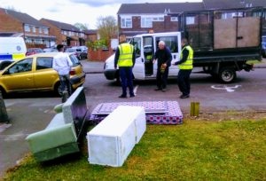 BCC arrive to remove flytipping