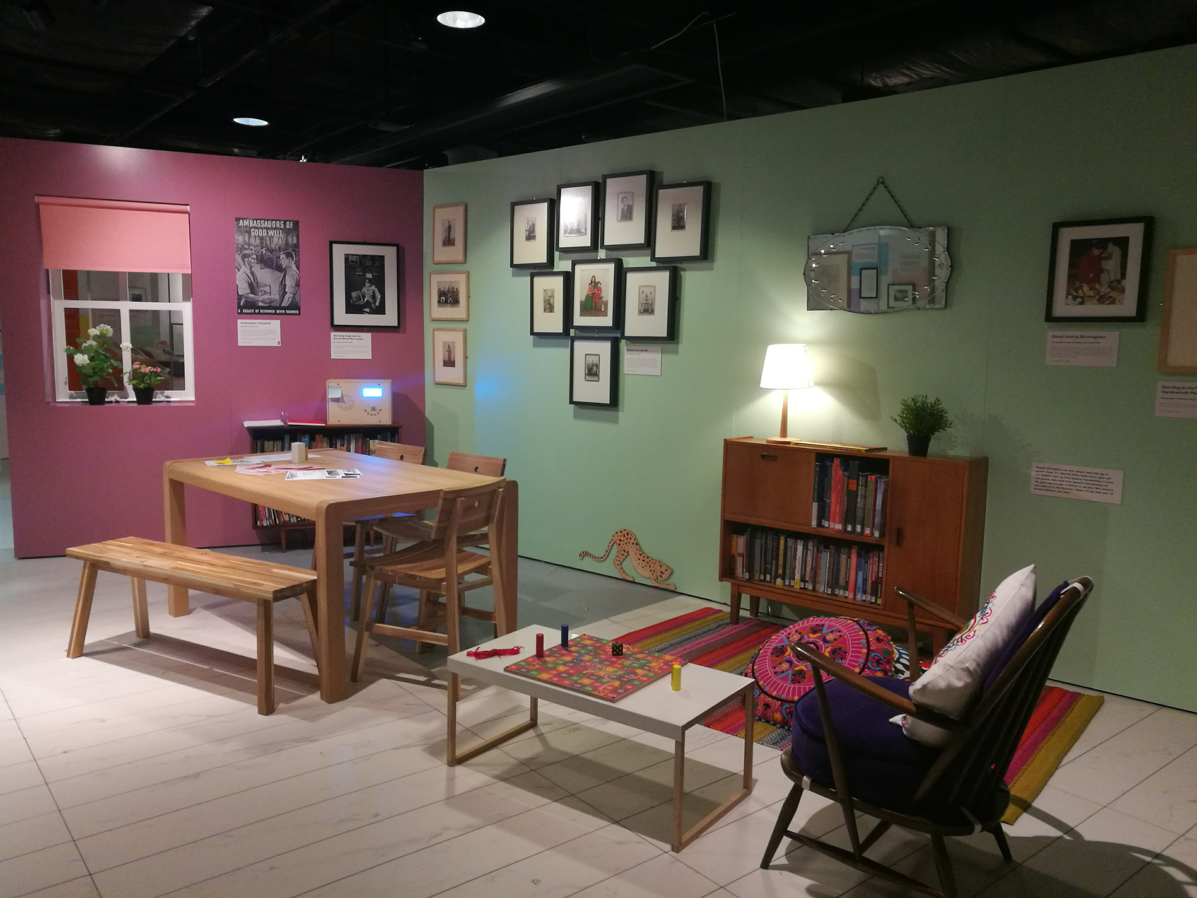 Front room at Connecting Stories Exhibition