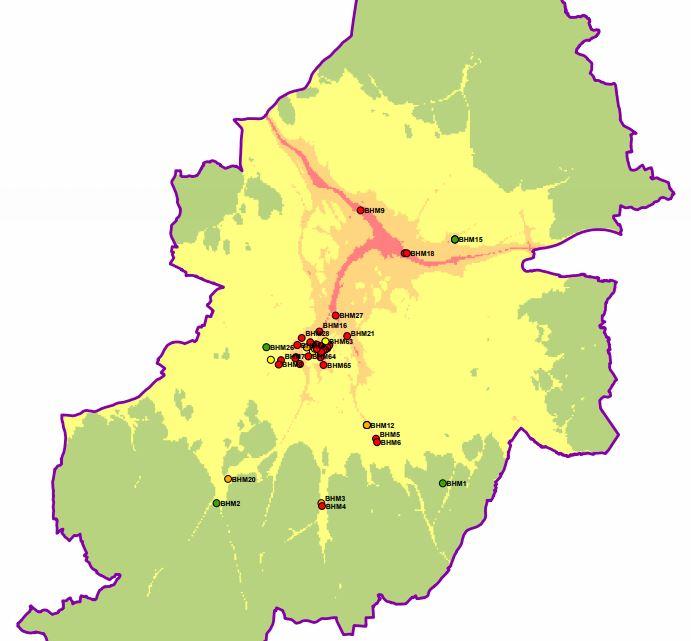 Bham Clean air map